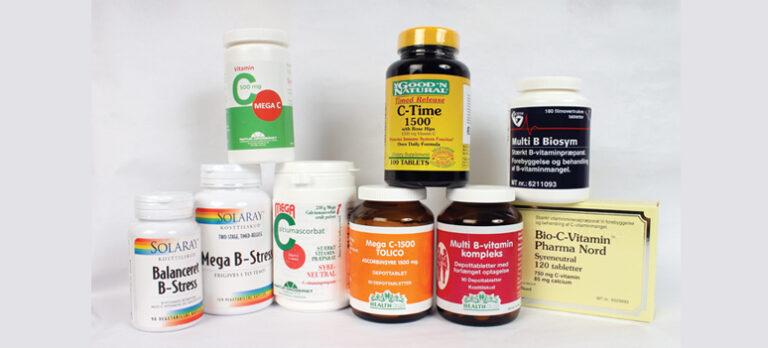 Husk at få B- og C-vitaminer hele året