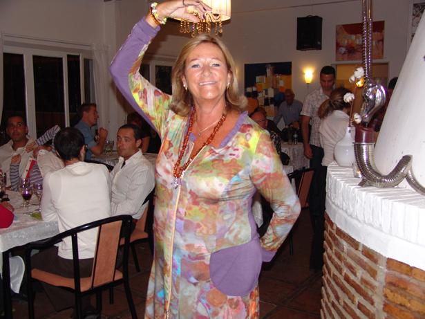 Pia fra La Peña de Dinamarca var i topform til Cup-middagen.