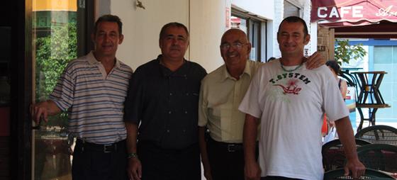 Miguel, Manolo, farmand Juan og Bruno.