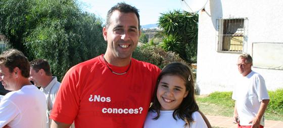 Dagens bedste målmand, Juan fra Alarma Universal, blev bakket op af sin datter.