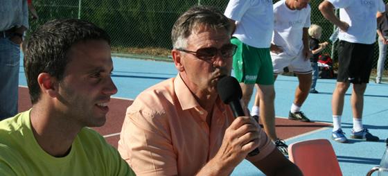 La Danesa's Alex sammen med DR-kommentator Birger Peitersen.