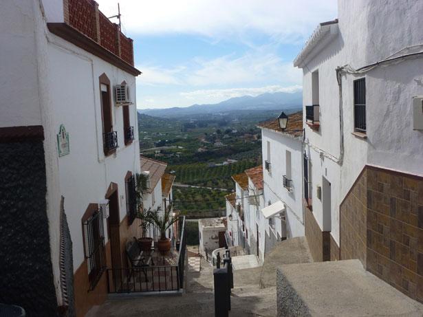 En typisk gade i Álora