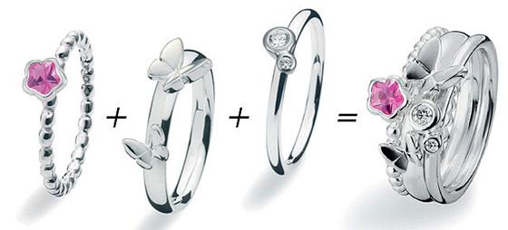Kombinationsringe fra Spinning Jewelry