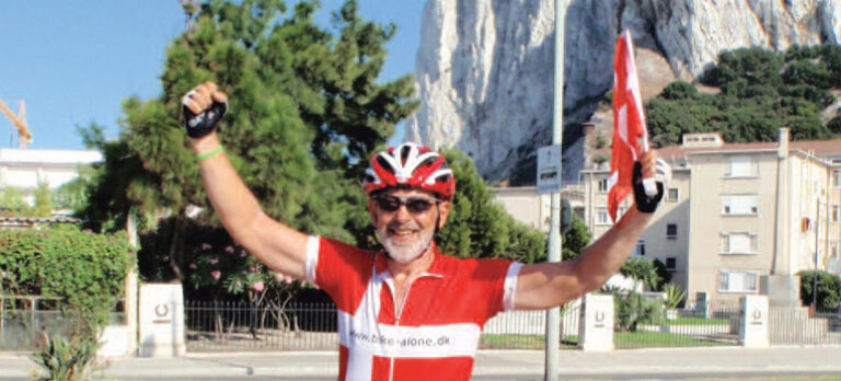 Fra Gibraltar til Nordkapp på cykel
