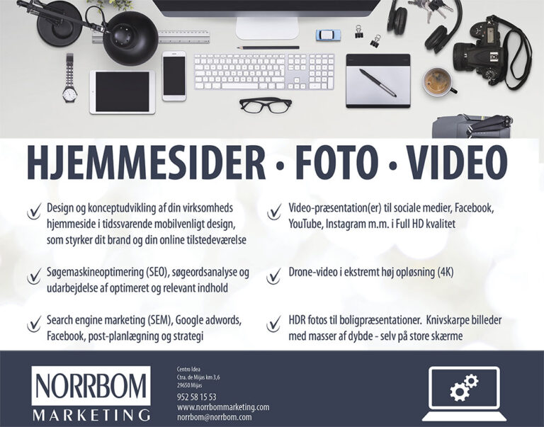 Hjemmesider, foto og video marketing