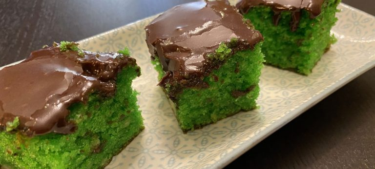 Veras Veranda: Grøn giftkage med marcipan