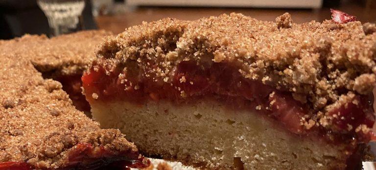 Veras Veranda: Jordbærcrumble på vaniljebund