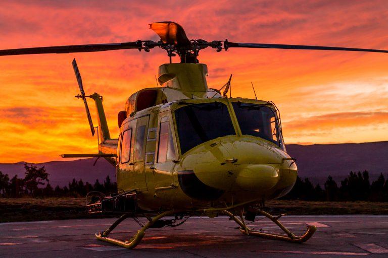 Helikopterulykke under brandslukning